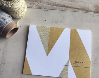 Chevron Patchwork Thank You Cards Box Set