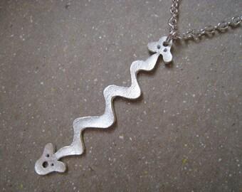 Artifact Inspired Yaya Mama Stele Fine Silver Pendant - Serpent Pendant