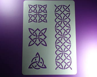 Stencil Celtic Knot Braided Ribbon triskelion-BO58