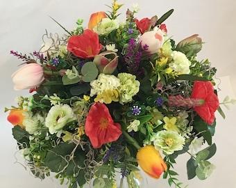Artificial flower bouquet, spring bouquet