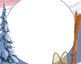 Ski Scene Montage (Art Prints available in multiple sizes)
