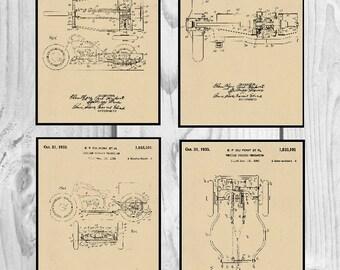 Three Wheeler Motorcycle Patent. Four Three wheeler prints, motorcycle prints, three wheeler patents, motorcycle artwork, wall decor