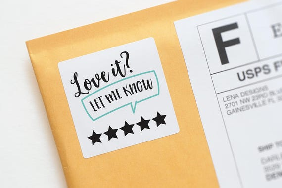 Review stickers package stickers etsy review review