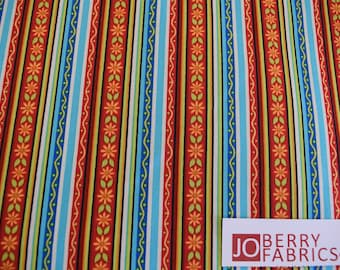 Salsa Stripe from the Salsa Collection by Studio 8 for Quilting Treasures,  Quilt or Craft Fabric,  Fabric by the Yard.
