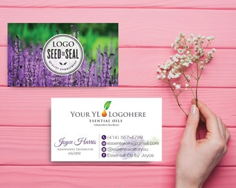 YL Business Card, Custom YL Business Card, Lavender YL Business card, Custom Business Card, Printable Business Card yl93