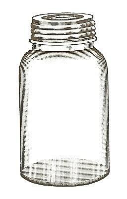Empty Jar unmounted rubber stamp
