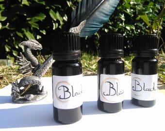 Natural carbon black ink, handmade