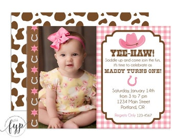 Cowgirl Birthday Invitation - Cowgirl Party Invite - Cowgirl Birthday Invite - Cowgirl Invitation - Cowgirl Invite - Girls Rodeo Party