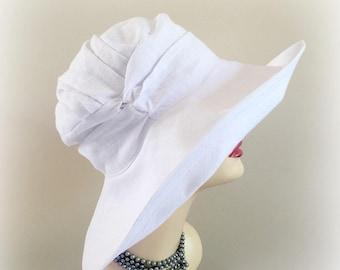Large Brim Hat - Wide Brim Hat - Linen Hat - Wide Brim Derby Hat - Floppy Brim Hat - Summer Hats - Floppy Beach Hat - Floppy Sun Hat - Hats