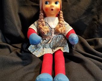 Vintage Cloth Mask Faced  Doll - Poland