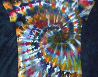 Tie Dye Ice Dye Swirl Women's T-Shirt American Apparel XL (10/12AU)