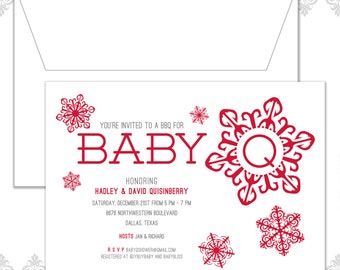 Snowflake Baby Shower Invite