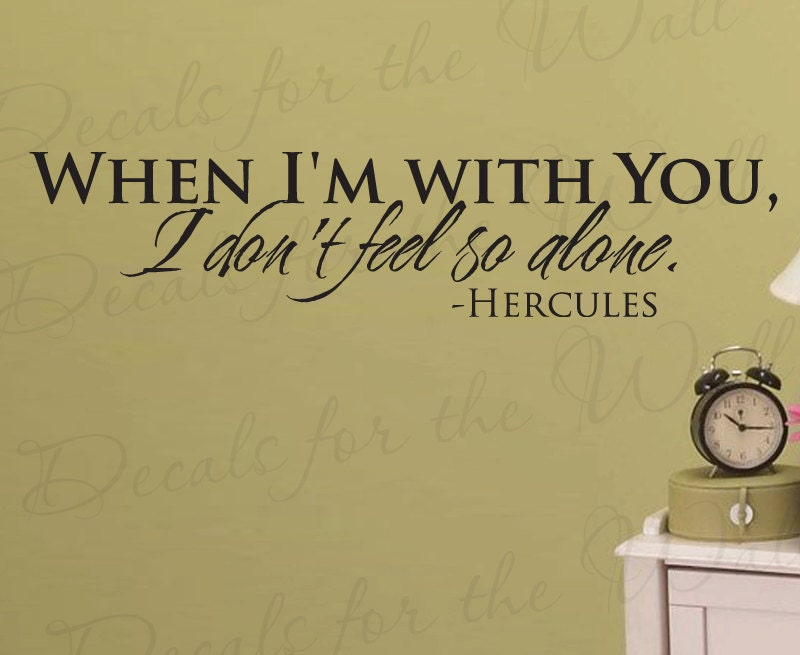 When Im With You Hercules Disney Girl Or Boy Room Kid Baby