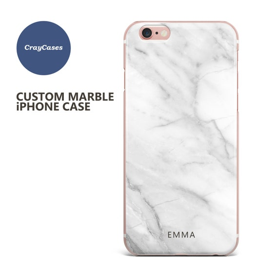 personalised iphone 8 case marble