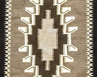 "28"" x 38"" Charming Navajo Grey Hills Rug, #16891"
