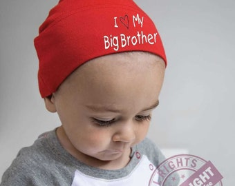 """Baby Knot Hat """" I love my big brother"""""""