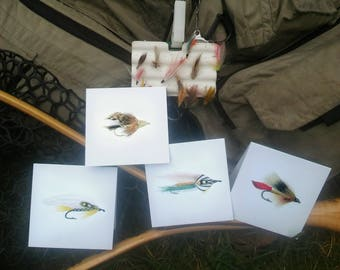 Fly Fishing Mini Card Sets 3x3""