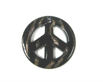 Glass Peace Pendant (4pc)