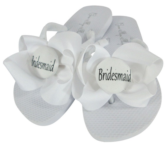 Bride Sandals personalization Flops Dancing Party Flower Flip your White Wedding Girl Bridesmaid Bridal custom Choose Shoes the for for g0Z7Zq