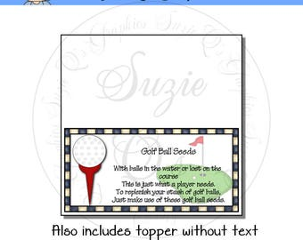 Golf Ball Seeds Topper - Digital Printable - Immediate Download