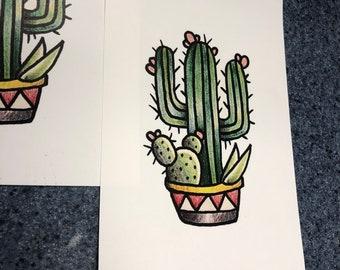 Traditional Cactus Art Print