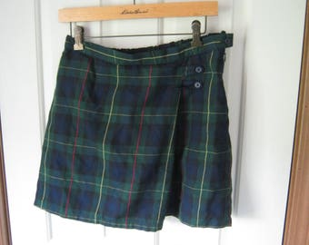 Upcycle Special: Lands End 16 plus green plaid wrap skirt for projects