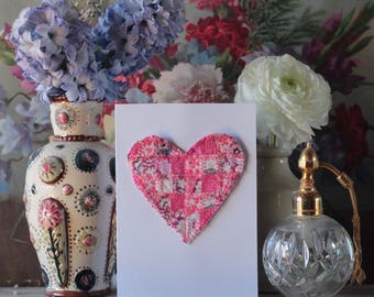 Liberty Patchwork Heart Cards