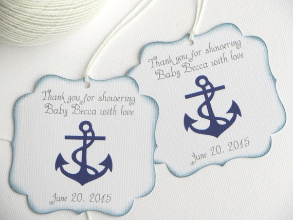 Nautical baby shower favor tags navy blue baby shower thank you nautical baby shower favor tags navy blue baby shower thank you tags personalized favor tag boy baby shower gift tags from wildsugarberries on etsy negle Gallery