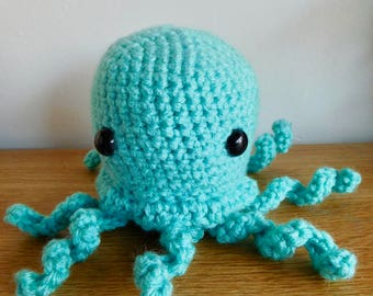 Amigurumi Crochet Octopus - Many Colors - Stuffed Animal - Toy - Handmade