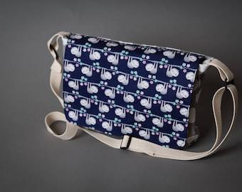 Sloth Bag, Small Messenger bag, Sloth, Messenger bag, Purse, Shoulder bag, Child's messenger bag, Travel bag, Sloth Purse, Small Pure,