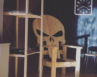 Punisher Skull logo chair