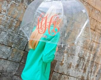 SALE! Monogrammed Umbrella ~ Clear Dome Umbrella ~ Gift under 20
