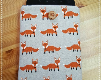 "Kindle Padded Cover, Fox, Protective Sleeve for Kindle Paperwhite/Kindle Fire HD 6""/Kindle Oasis/Kindle Voyage/Handmade case/Fox/Orange Fox"