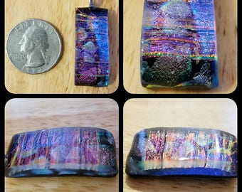 Beautifully Colored Dichroic Glass Pendant