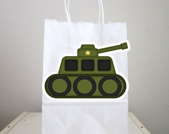 Army Goody Bags, Army Favor Bags, Army Gift Bags, Army Truck