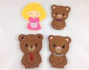 Goldilocks Felt Finger Puppets