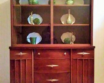 Mid Century Modern China/Curio Cabinet Hutch
