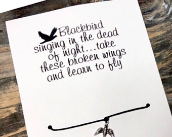 Blackbird singing in the dead of night wish bracelet-The Beatles blackbird wish bracelet -Blackbird wish bracelet