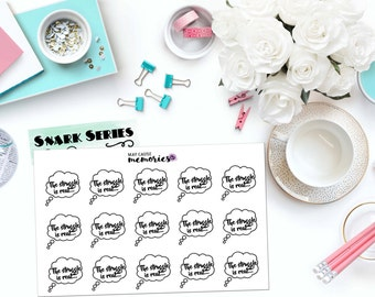 "SNARK SERIES: ""The struggle is real..."" Paper Planner Stickers!"