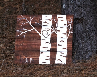 Pallet Art, pallet sign, wood sign, heart in tree, pallet wood art, wedding gift, anniversary gift, painted wood sign, rustic wood sign