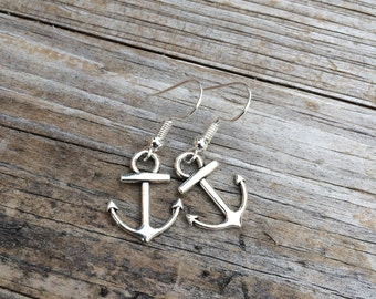 Anchor Earrings, Charm Earrings, Nautical Earrings, Ocean Earrings, Gifts for her