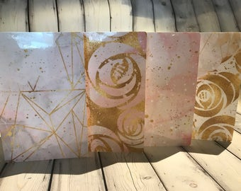 Travelers Notebook Dashboards Pink Marble Rose