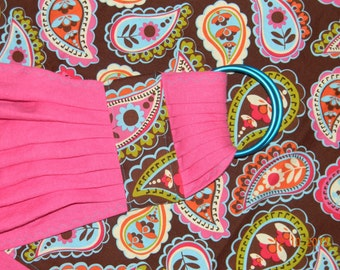 Linen Ring Sling: Pink Paisley