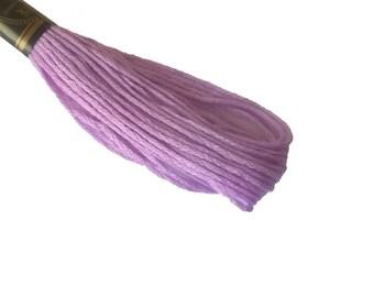 1 skein 8 m stranded Mercerized cotton - purple 442