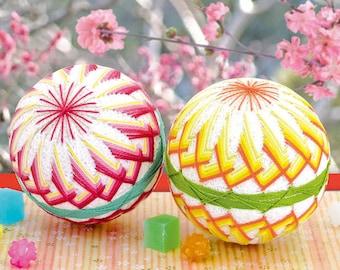 Olympus TM11 Temari Kit Peach Blossom 2 Balls - Traditional Japanese Temari