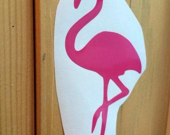 Flamingo Vinyl Decal, Vinyl Stickers, Laptop Decal, Flamingo Car Sticker, Laptop Sticker, Car Decal, Bird Sticker