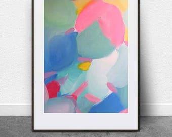 Pastel Punch, DIGITAL ART File, Abstract Art, Pastel Colors, Painting, Instant Art, Printable Art, Nursery Art, Fine Art, Poster, Print