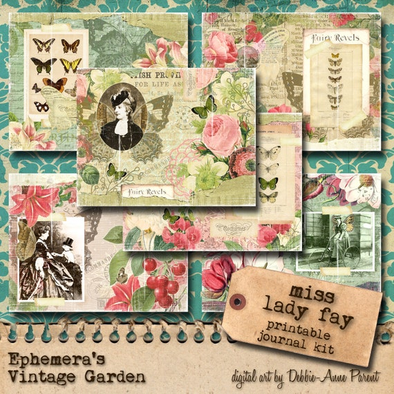 Miss Lady Fay - Printable Journal Kit 5.5 x 8.5 Inches