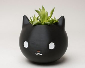 Kitty Cat Planter / Cute Planter / Succulent Planter / Vintage / Cactus / Cat Lover Gift / 3D Printed / Gift For Her / Animal Planter
