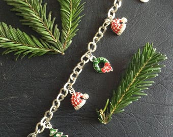 Christmas Red Hat theme bracelet
